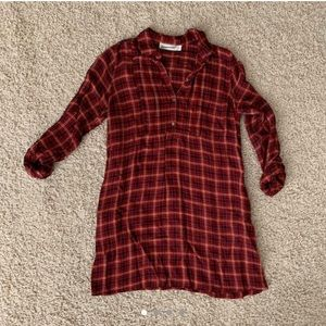 Abercrombie & Fitch plaid fall dress